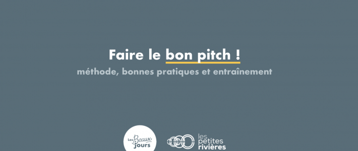 Un kit pour faire un bon pitch